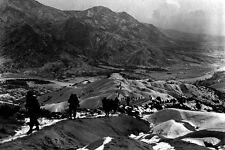 New 5x7 Korean War Photo: 19th Infantry Regiment Trek Over Mountains Near Seoul