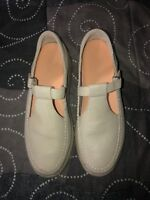 Dr. Comfort LuLu Womens Leather Diabetic Mary Janes Shoes Size 8.5 N Beige
