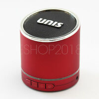 Hi-Bass Wireless Portable Bluetooth Mini HiFi Speaker Boombox for iPhone - Red