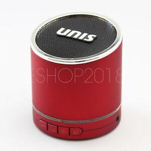 Hi-Bass Wireless Portable Bluetooth Mini HiFi Speaker Boombox for iPhone - Red