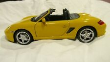 Porsche Boxster S In A Yellow 1:24 Scale Diecast Sports Car By Welly NEW dc2449