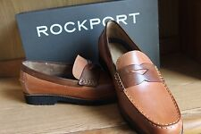 Rockport Classic Move Penny Loafers Shoes Tan Cognac Men Size 12  V82020