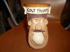 """Golf fanático"", Comic cara Taza de Cerámica"
