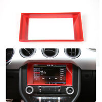 For Ford Mustang ABS Dashboard GPS Navigation Bezel Cover Frame Decor Trim Red
