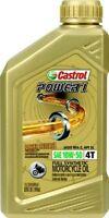 Castrol Power 1 4T Synthetic Oil 10W50 1Qt 06114 / 15B6d7