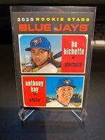 2020 Topps Heritage Bo Bichette Rookie Card Lot (2) Blue Jays
