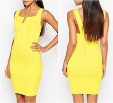 Vestiti da donna giallo senza maniche taglia S