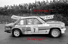 Henri Toivonen Rothmans Opel Manta 400 RAC Rally 1982 Photograph 1