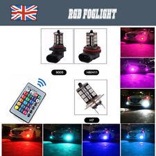 2 × H7 H11 H8 9006/HB4 Bombillas Led Rgb Multicolor Foglight Control Remoto 12v