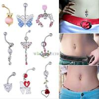 Various Styles Body Piercing Belly Button Navel Ring Bar Barbell Fashion Jewelry
