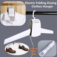 Portable Electric Clothes Drying Rack Dryer Hanger Folding Travel Laundry Shoes-
