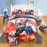 Transformers 9pcs Comforter Set in a Bag Twin Full Queen Superhero Bedding Set