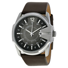 Diesel Men's Master Chief DZ1206 Black Leather Analog Quartz Watch