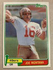 Joe Montana 1981 Topps Rookie #216 San Francisco 49ers                        #2