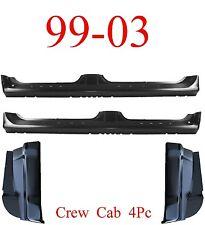 99 03 Ford Crew Cab 4Pc Extended Rocker & Cab Corner, 4 Door, F150 Super Crew