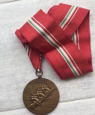 Vintage BRONZE Military Commander Sports Medal Budapest Hungary Szekespovaros