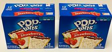 2 boxes Pop Tarts Toaster Pastries Frosted Strawberry 12 Count each NEW Fresh