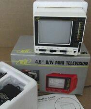 "Mini TV Vintage  B/N  Tele Hady 4,5""   caja, adaptadores ,funcional"