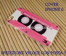 "Cover custodia in gomma morbida silicone per Apple Iphone 6 4.7 "" cassetta music"