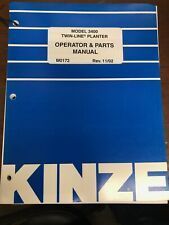 Kinze Model 3400 Twin-Line Planter Operator and Parts Manual 11/02
