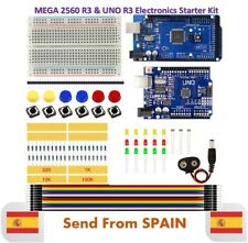 Starter Kit MEGA 2560 UNO R3 Breadboard LED Jumper Wire Button for Arduino