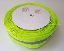 50 yard roll /neon lime/ 100% polyester reflective ribbon/ 2.25'' grosgrain