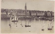 Saint Malo Le Quai Vintage Papier albuminé ca 1875