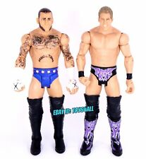 Cm Punk & John Cena WWE Mattel Basic Wrestling Figure Lot SES Straight Edge_s17