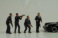 Cop Officer Police Polizei 4 Figurines Figur figures Set 1:18 American Diorama