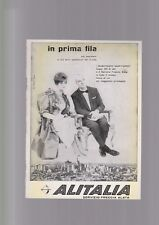 pubblicità anni 60 ALITALIA PRIMA FILA servizio freccia alata