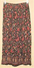 NWOT~Vintage Ozark Mtn Jean Co. Long Crinkle Rayon BoHo Pull-On Skirt India SZ L