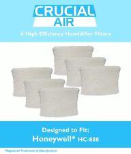 6 REPL Honeywell/Duracraft Humidifier Filters Part # DCM-200 DH-888 HCM-890 890B