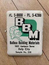 Vintage BBM Balboa Building Materials Daly City Advertising Metal Bill Clip Smpl