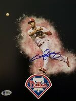 Jimmy Rollins Signed Philadelphia Phillies 8x10 Photo Beckett