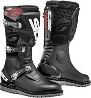 2019 SIDI TRIAL ZERO 1 BLACK TRIALS BOOTS - AVAILABLE IN SIZES 42-47 UK 8-12