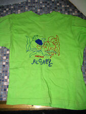 BOYS OR GIRLS 2 ALGARVE EMBROIDERED T SHIRTS FISH DOLPHINS AGE 6 USED