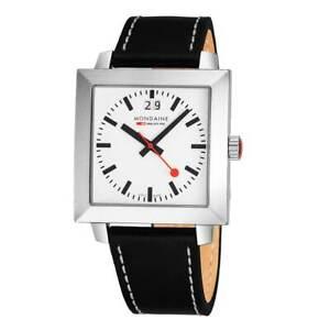 Mondaine A685.30336.11SBB Men's Evo White Dial Black Strap Watch