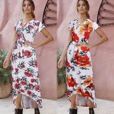 Casual women's Dresses Long Dress summer beach Fashion Women Party Sleeveless