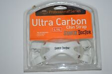 New Shock Doctor Ultra Carbon Football Pro Series Chin Strap L/XL white 4 Pt