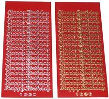 TWO Sheets Good Quality HAPPY BIRTHDAY peeloffs - PEEL OFF CRAFT STICKERS