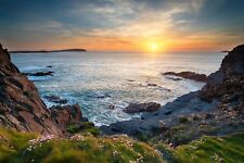 More details for unframed photo canvas print poster picture north cornwall rugged coastline sea