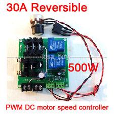 30A Reversible PWM 12V-32V 500W DC Motor Speed Control Regulator Controller