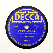 """MILLS BROTHERS """"Sweet Adeline / You Tell Me Your Dream"""" DECCA 2285 [78 RPM]"""