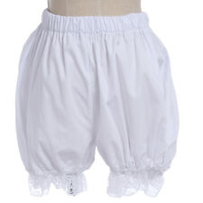 Women Girls White Bloomers Lace Lolita Elastic Petticoat Pettipants Shorts Pants