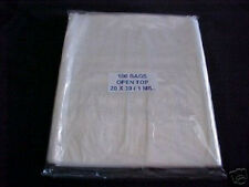 100 CLEAR PLASTIC 1 MIL 20x30 POLY BAGS 20 x 30 FREE SHIPPING