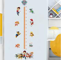 Paw Patrol Height Chart Wall Sticker Decal Boy's Girl's Bedroom Nursery UK