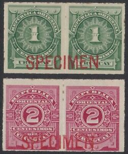 Uruguay 1888 American Bank Note Co SPECIMEN overprint pairs
