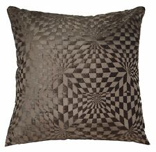 wg06a Gray Brown Geometric Check Cotton Throw Pillow Case Cushion Cover*Cus-Size