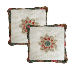 SET of 2 - Patchwork Floral  Sofa / Dining Chairpad Chair Seat Pad Cushion