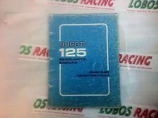 CATALOGO RICAMBI ORIGINALE DUCATI 125 REGOLARITA' ENDURO 1976 SPARE PARTS